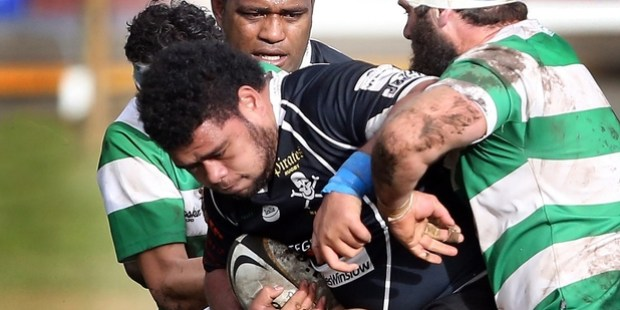 DOUBLE-HEADER: Tololi Moala, Pirates prop, was in good form against Marist last week. Now both these Spriggens Park teams will host the Taihape sides back-to-back tomorrow. PHOTO/STUART MUNRO A-060615WCSMRUGBY1