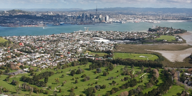 Waitemata Golf Course in Devonport occupies real estate worth millions but pays rents of only $1 a year. Photo / Brett Phibbs