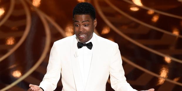 Host Chris Rock speaks at the Oscars. Photo / AP