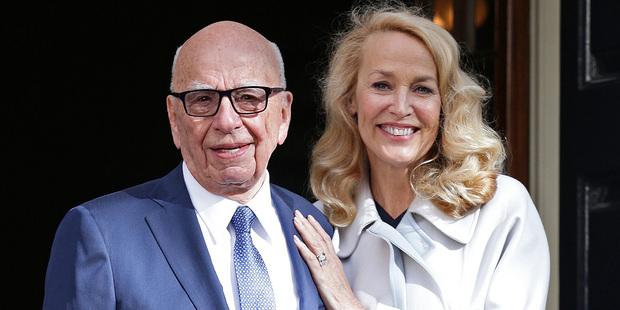 Deng's ex-husband Rupert Murdoch married Jerry Hall this year. Photo / AP