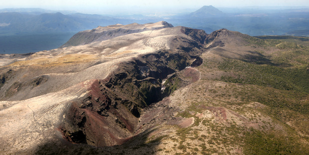 Members of Te Arawa hapu Tuhourangi and Ngati Rangitihi will, weather permitting, make their annual pilgramage to the top of Mt Tarawera today for the 130th anniversary of the eruption.  Photo/File