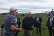John Key and Gerry Brownlee survey damage to the Kaikoura and Marlborough areas.