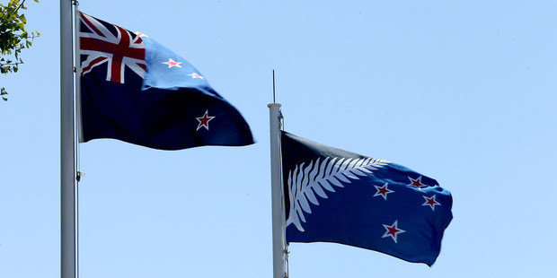 A new poll shows only 30 per cent of voters want the new blue and black silver fern design. Photo / John Borren