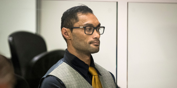 Mikio Filitonga appears in the Auckland District Court on charges of deliberate HIV infection. Photo / Jason Oxenham