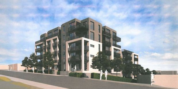 The apartments are proposed for 32 and 34 Tennyson Ave, Takapuna.