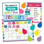 Schoolgirl Style Calendar Bulletin Board Set Office Depot