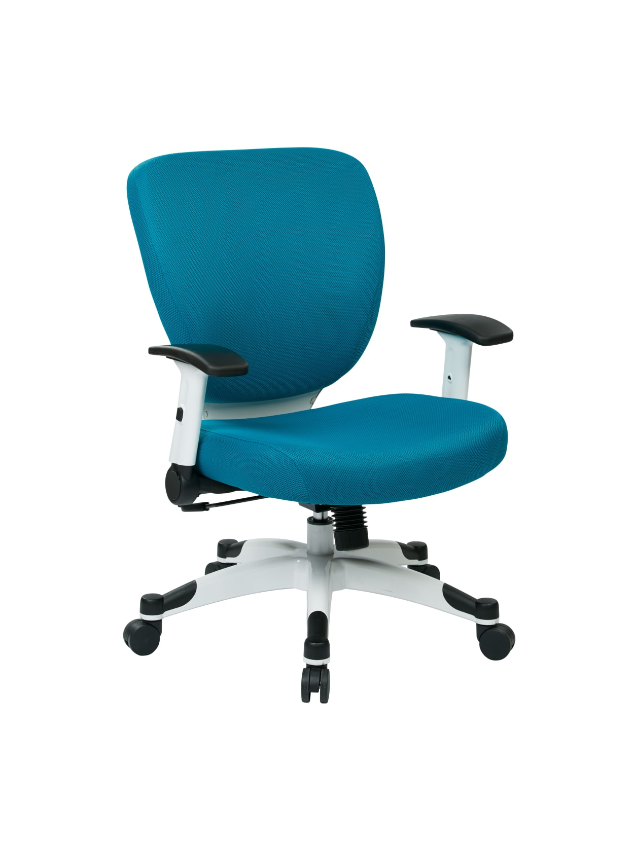 Office Star Space Seating Professional Deluxe Mesh Mid Back Task Chair Bluewhite Office Depot