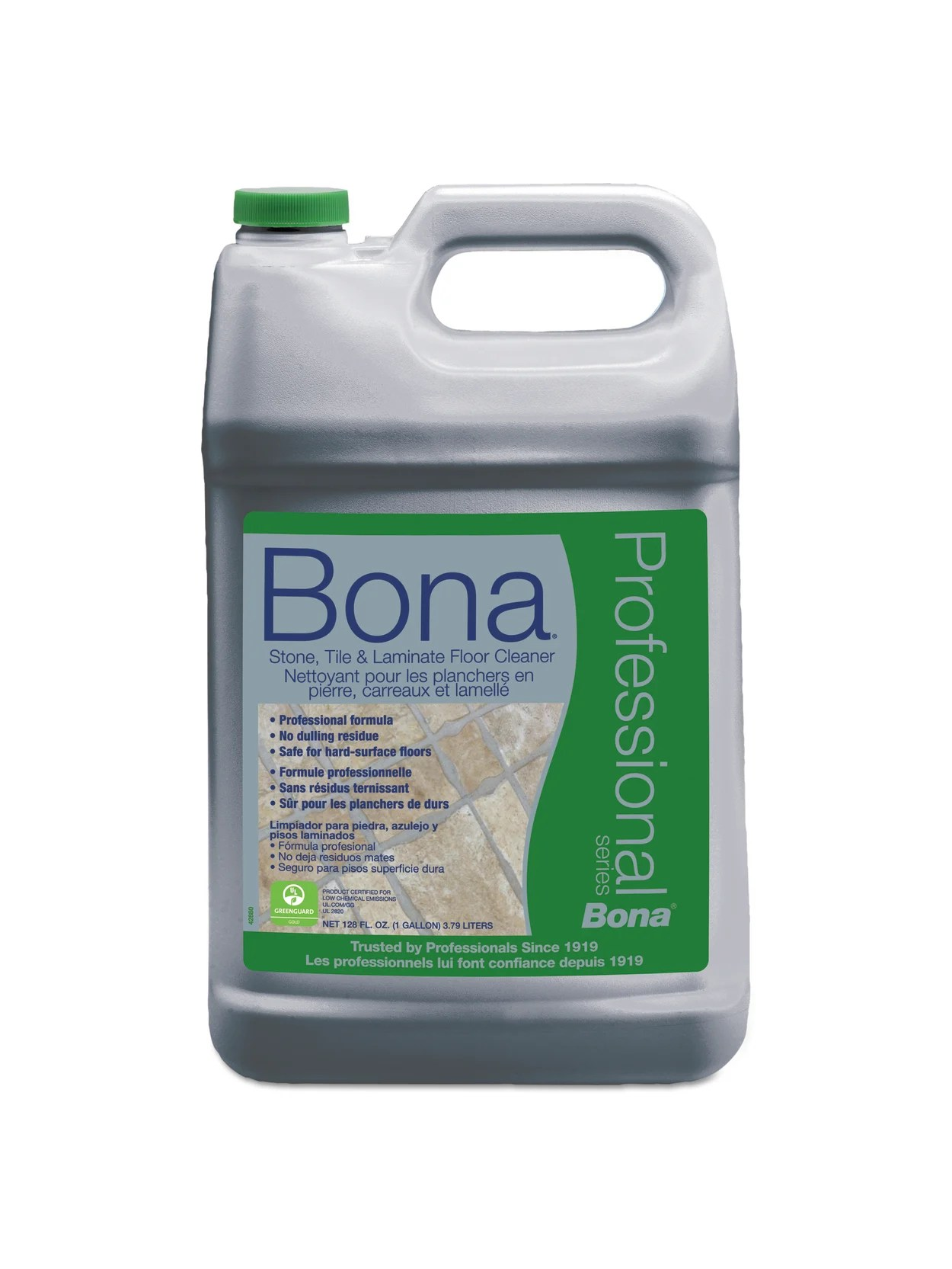 bona stone tile and laminate floor cleaner fresh scent 128 oz refill bottle item 789107