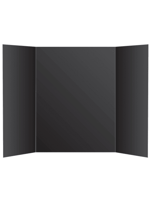 office depot brand tri fold foam display board 36 x 48 black item 460901