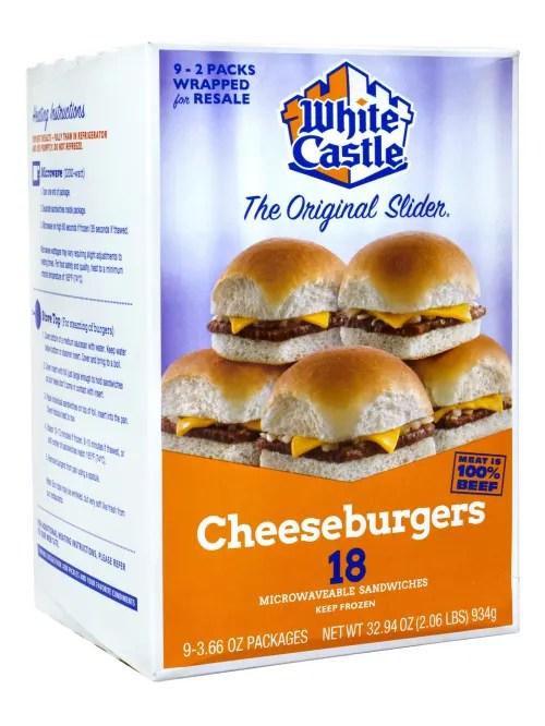 white castle cheeseburger sliders box of 18 burgers item 8605660
