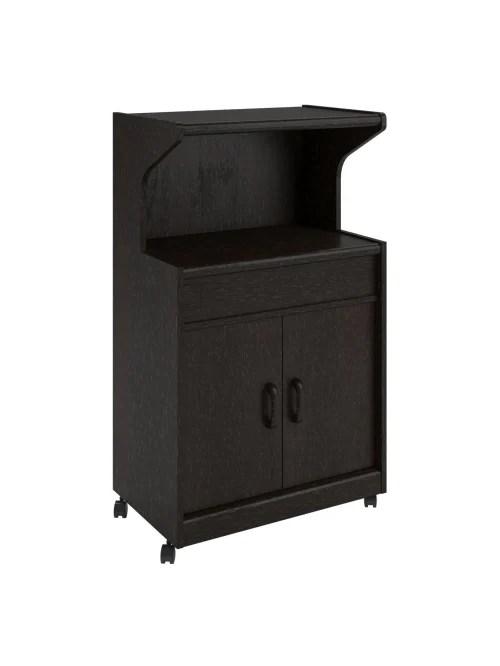 ameriwood home reggie microwave cart with shelf espresso item 8697756