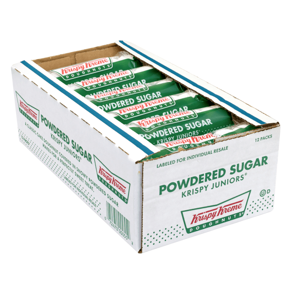 Reward your coworkers for a job well done with a box of Krispy Kreme doughnuts. They're great for National Doughnut Day and beyond.  Classic cake doughnut is baked to perfection.  Powdered sugar topping sweetens this breakfast treat.