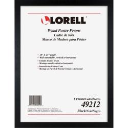 lorell wide frame 24 x 36 frame size rectangle horizontal vertical 1 each wood black item 5100772