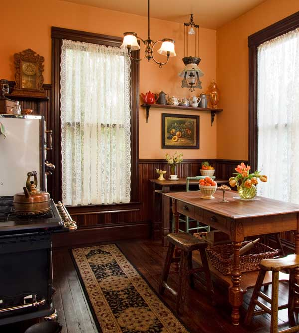 Selecting Curtains For Your Period Kitchen Old House