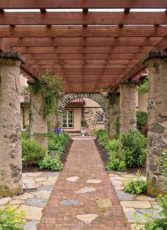 pergola designs for house gardens house Brick Pergola Designs id=70212