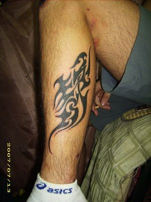 Chinese character free tattoo design on the leg Download