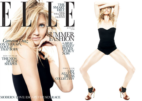 Cameron Diaz Pictures in Elle Magazine