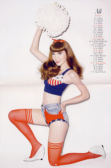 ali model terry richardson vogue paris calendar 2009