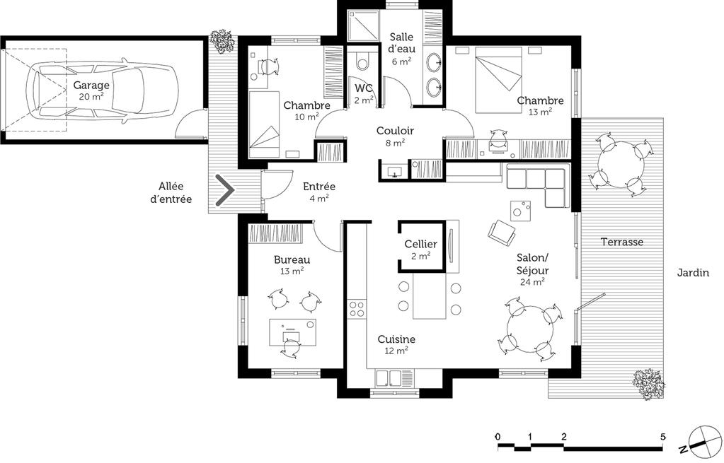 Plan De Maison Moderne Gratuit A Telecharger Pdf | Ventana ...