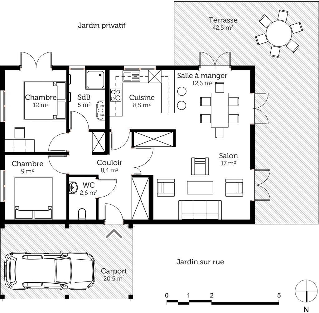 plan maison de plain pied 80 m ooreka
