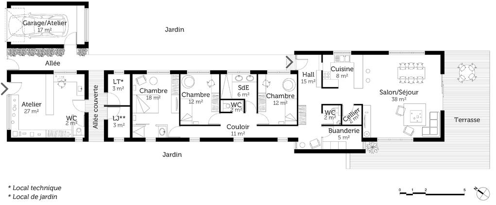 Plan De Maison En Longueur WW42 Jornalagora