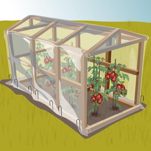 comment fabriquer une serre a tomates