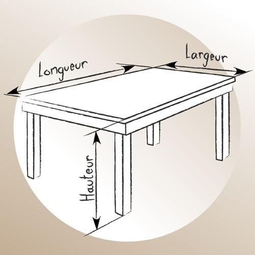 1 realisez le plan de votre future table en bois