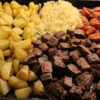 Pytt i Panna på grillrester med senapscremefraiche