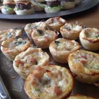 Minipajer med prosciutto &parmesan