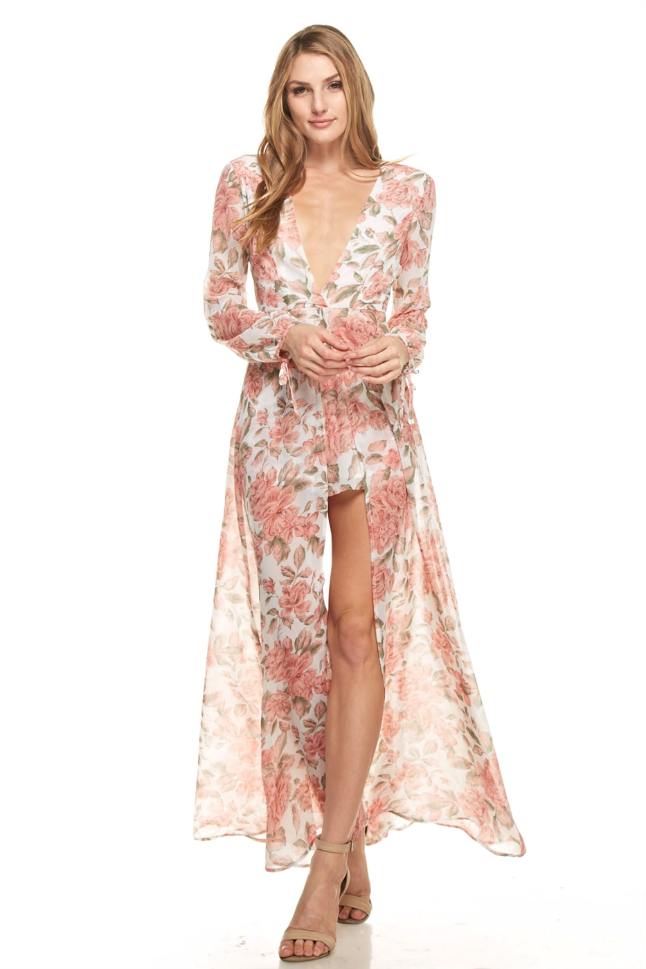 THE CLOTHING COMPANY Wholesale Floral Print Romper With