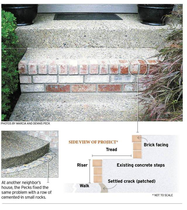 How to repair a step: Dress up concrete stairs to fix a crack