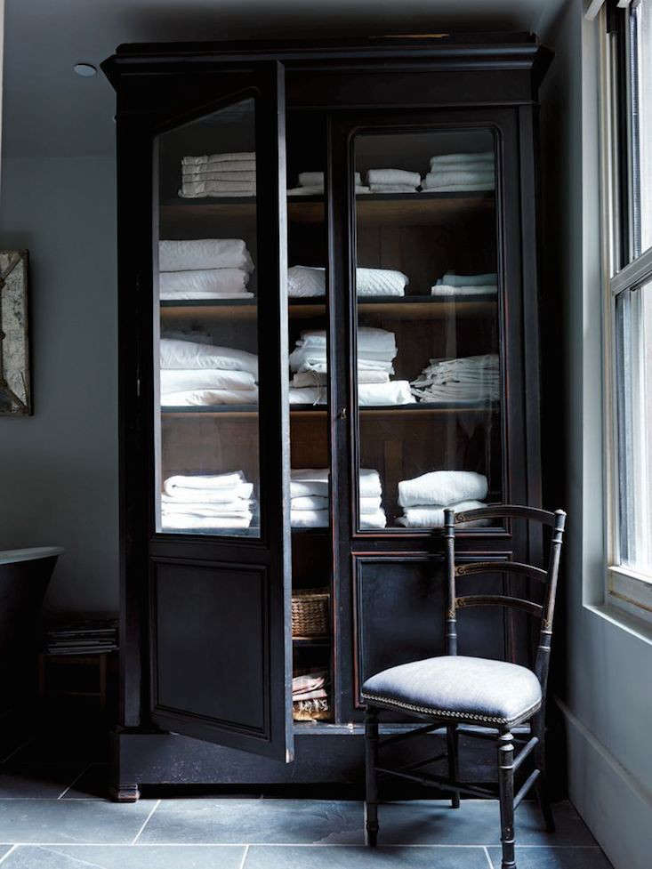 12 armoires as linen closets the