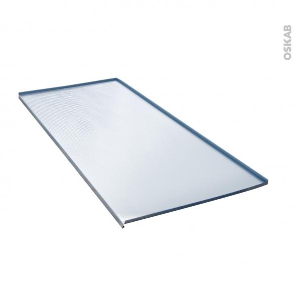 protection aluminium pour meuble sous evier l120 avec rebords caoutchouc anti fuites sokleo