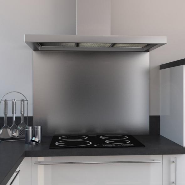 fond de hotte cuisine inox l60 x p65 x e1 1 cm planeko