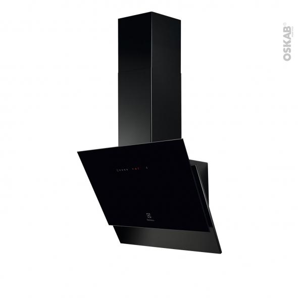hotte de cuisine aspirante inclinee 60cm noir electrolux lfv616k