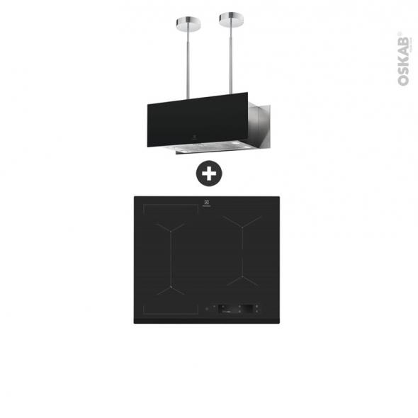 pack design assorti electromenager encastrable hob 2 hood plaque induction 4 foyers hotte ilot 90cm electrolux