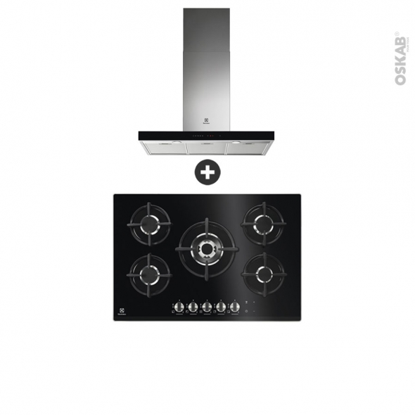pack design assorti electromenager encastrable hob 2 hood plaque gaz 5 foyers hotte box 90cm electrolux