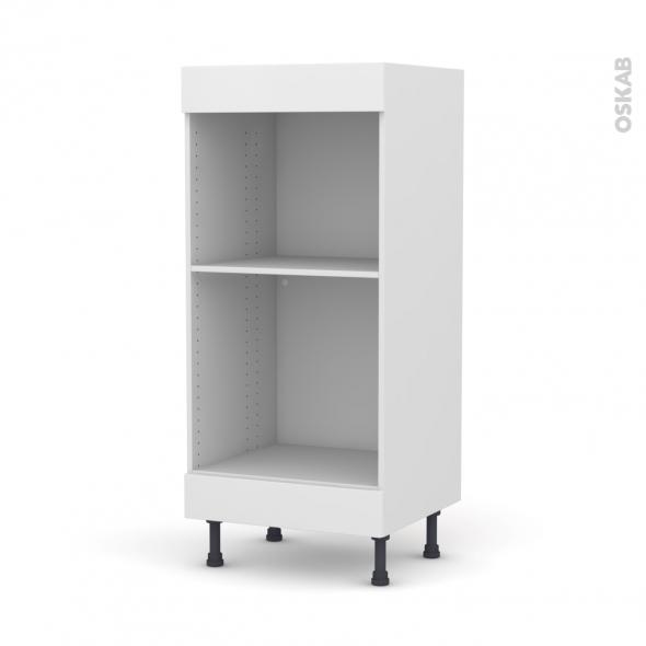 colonne de cuisine n 3 four mo encastrable niche 45 ginko blanc l60 x h125 x p58 cm