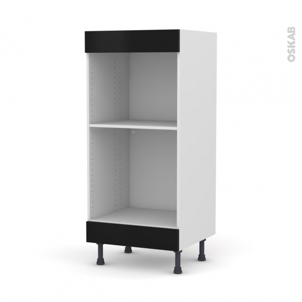 colonne de cuisine n 3 four mo encastrable niche 45 ginko noir l60 x h125 x p58 cm
