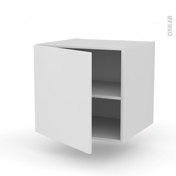 meuble de cuisine bas suspendu ginko blanc 1 porte l60 x h57 x p58 cm
