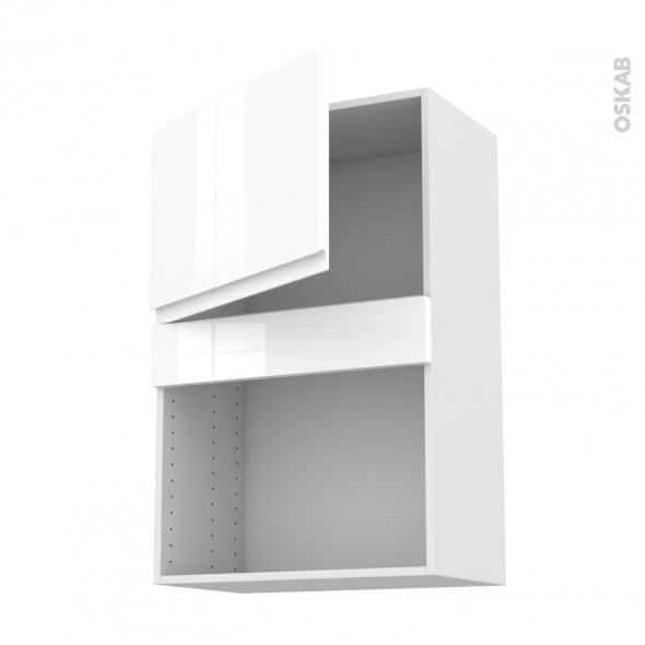 meuble de cuisine haut mo encastrable niche 38 ipoma blanc brillant 1 porte l60 x h92 x p37 cm