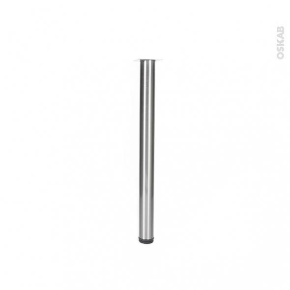 pied de table rond reglable finition inox brosse h70 o6 cm sokleo