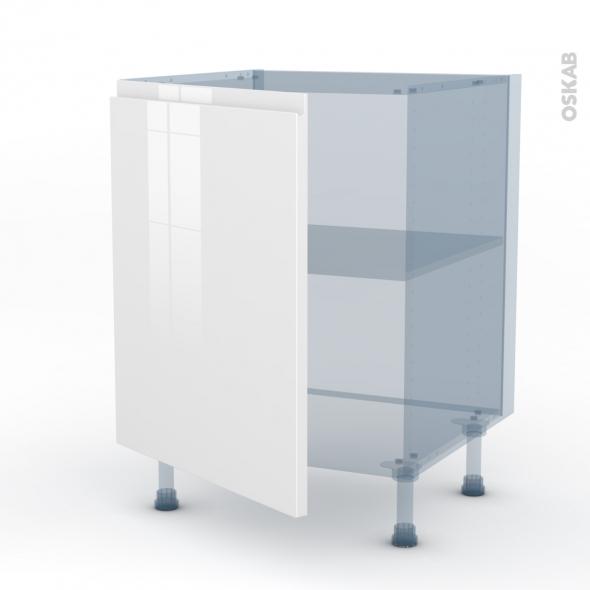 ipoma blanc brillant kit renovation 18 meuble bas cuisine 1 porte l60xh70xp60