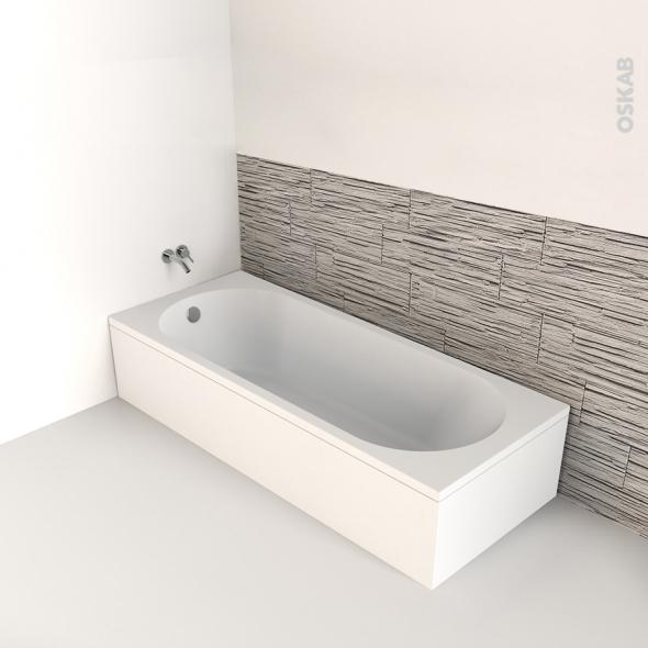baignoire rectangulaire 160x70 cm acrylique renforce ona