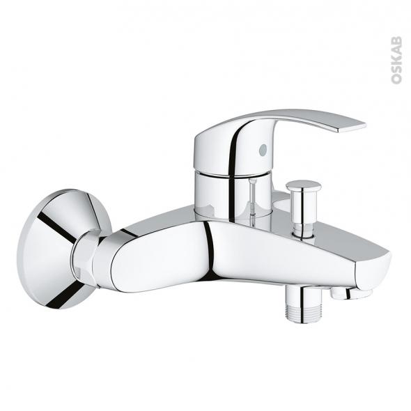 robinet baignoire eurosmart mecanique chrome grohe