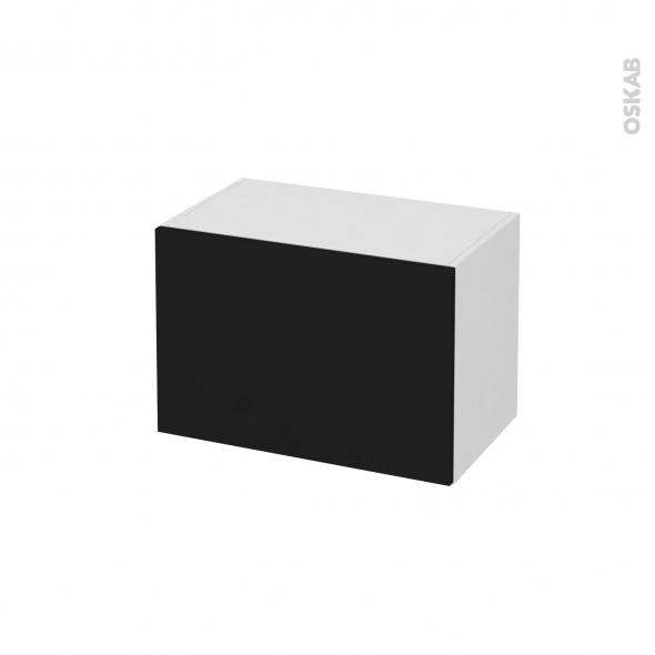 Meuble De Salle De Bains Rangement Bas Ginko Noir 1 Tiroir L60 X H41 X P37 Cm Oskab