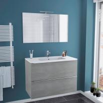 meuble salle de bain gris clair
