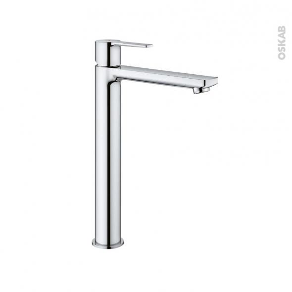 robinet de salle de bains lineare mitigeur lavabo bec haut sans tirette grohe