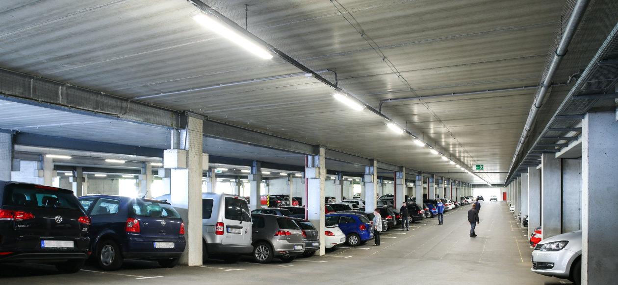 smart light for vw parking garage in