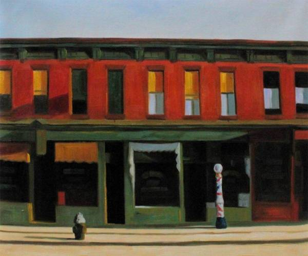 Early Sunday Morning - Edward Hopper Reproduction